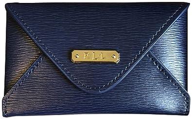 hot sale online bb1db 8b807 Lauren Ralph Lauren Women's Leather Newbury Envelope Card Case Navy ...