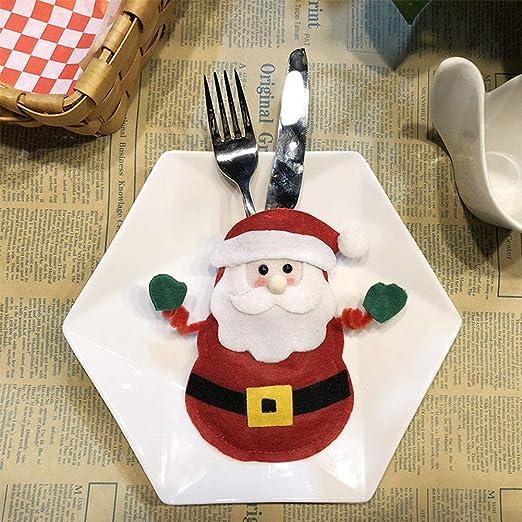 FairOnly Decoración navideña, Mesa de Comedor, Cuchillo y Tenedor ...