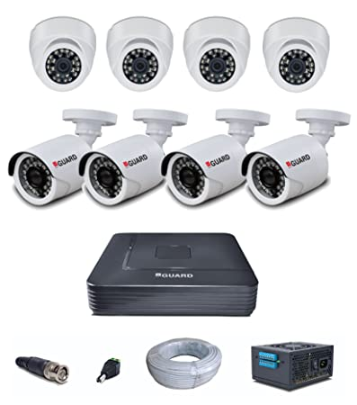 iBall FHD 1080p 2 MP HD CCTV and 8 Cameras with Channel Kit Includes(4 Dome + 4 Bullet + HD DVR + SMPS + 16 BNC + 8 DC Connectors + 90 Meter Cable) Dome Cameras at amazon