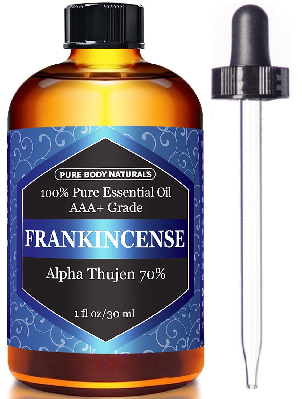 Pure Body Naturals 100% Pure Frankincense Essential Oil, 1 Fl. Oz.