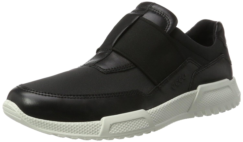 ECCO Men's Luca Elastic Slip on Fashion Sneaker 39 EU/5-5.5 M US|Black/Black
