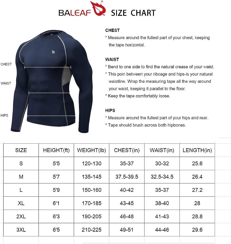 BALEAF Mens Cool Dry Skin Fit Long Sleeve Compression Shirt
