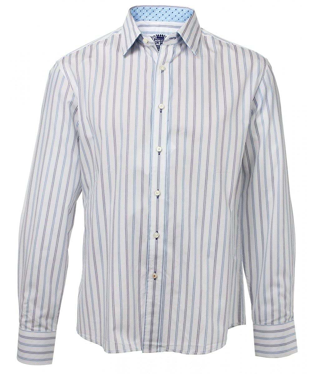 House Of Lords Mens Casual Button Up Stripe Shirt