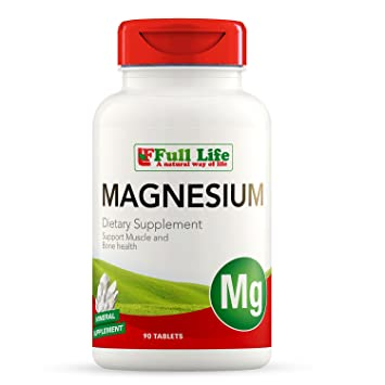 Full Life Magnesium 500 mg - Magnesium Dietary Supplement - Support Muscle and Bone Health -