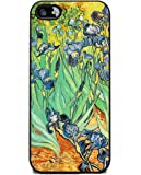 Irises by Van Gogh - iPhone 5 or 5s Cover, Cell Phone Case - Black