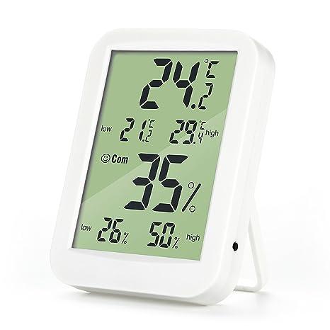 Loskii DC-09 termómetro humedad higrómetro Digital Temperatura Medidor de humedad con pantalla LCD grande