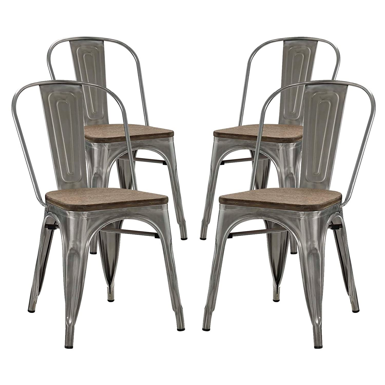 Antique Dining Chairs >> Amazon Com Modern Contemporary Industrial Distressed Antique