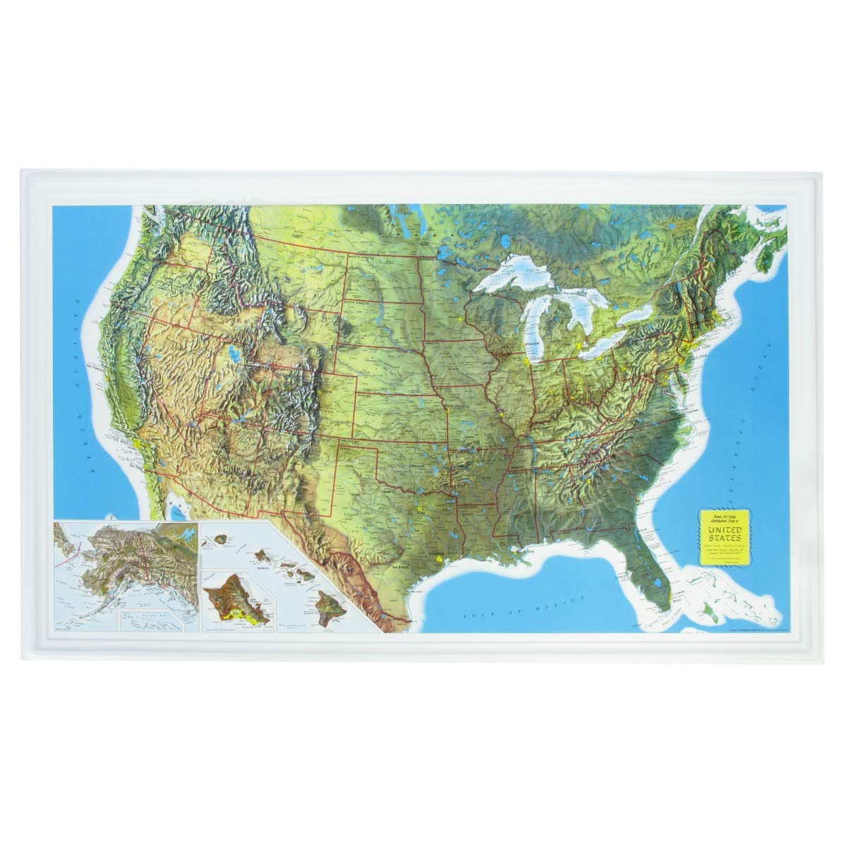 Amazon Com U S Raised Relief Topographical Map 3d Rand