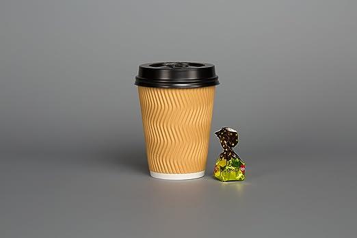 Einweg-Kaffeebecher, geriffelt, (50 Stück), für kalte/heiße Getränke ...