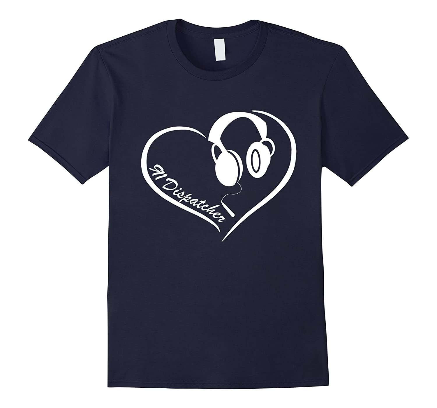 911 Dispatcher Shirts - 911 Dispatcher Heart T-shirt-BN