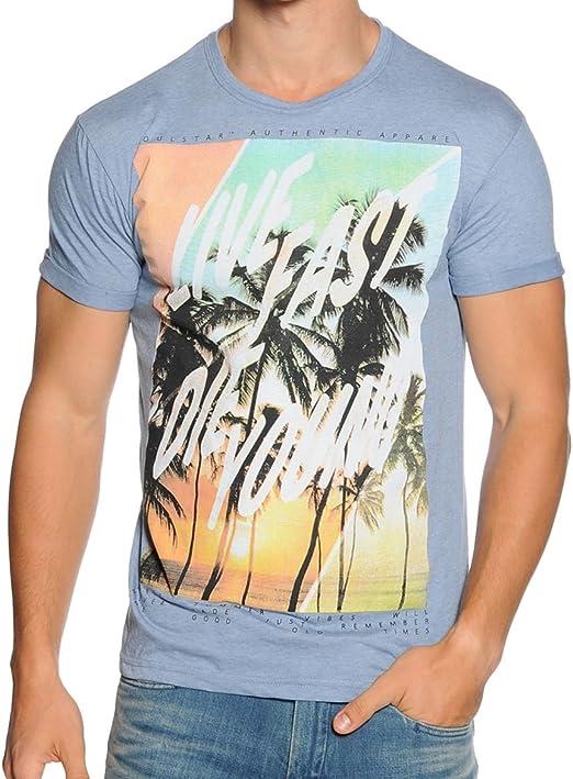 Homme en coton à manches courtes t-shirts par soul star