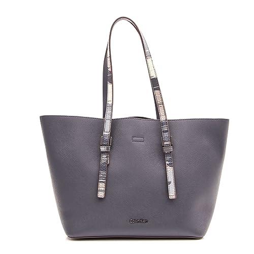 7de783f57 CALVIN KLEIN MEDIUM TOTE WOMEN BAGS PRINT K60K603674 dark blue ...