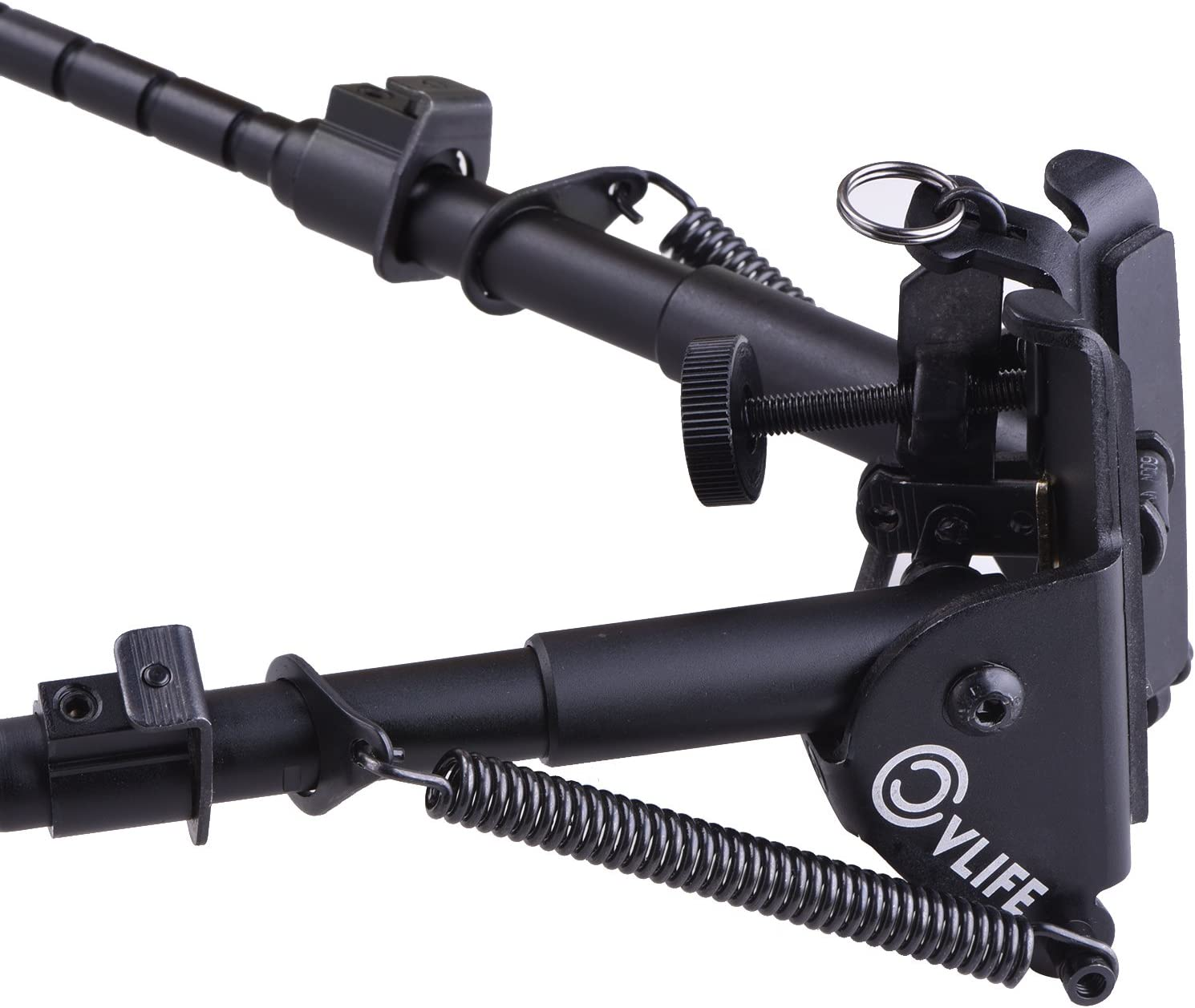 CVLIFE 6-9 Inches Tactical Rifle Bipod Adjustable Spring Return with Adapter : Sports & Outdoors