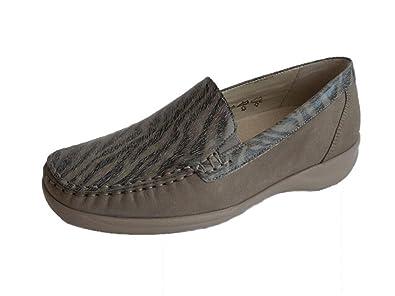 huge discount f0b32 cc948 Waldläufer Damen Fashion Slipper Leder braun Weite M: Amazon ...