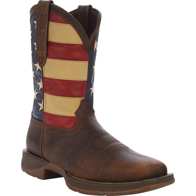 "Durango Men's 12"" Rebel Patriotic Pull-On Western Boot-DB5554"