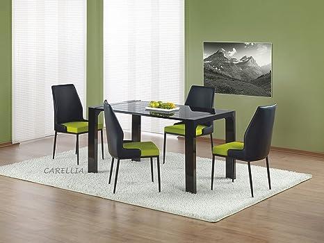 Mesa a comedor diseño rectangular - L: 140 cm x P: 80 cm x H ...