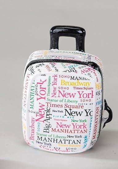 Hucha con forma de maletín de viaje con diseño de caja registradora de vacaciones de dinero de viaje con el dinero para donativos de vacaciones de dinero en caja de regalo: Amazon.es: