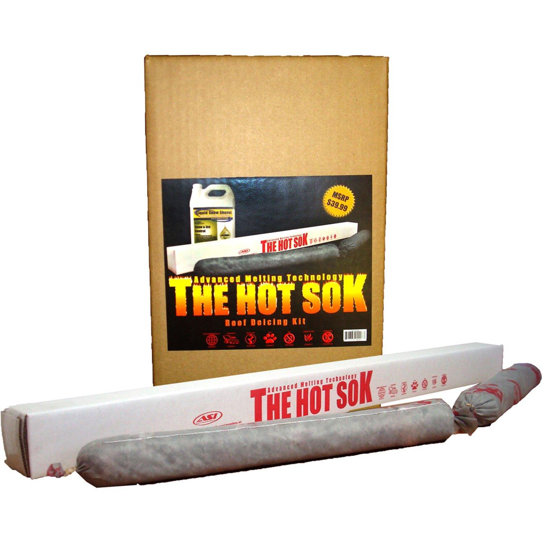 Amazon.com : Advanced Seasonal Innovations HSRD001 2 Pack Hot Sok Roof  Deicer, 24 Inch : Snow Shovels : Garden U0026 Outdoor