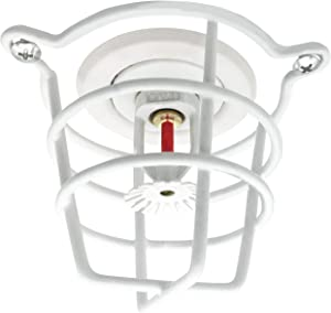 """Happy Tree (5 Pack) White Fire Sprinkler Head Guard Cover for Both 1/2"""" & 3/4"""" Fire Head for Protecting Flush Mount & Side Wall & Pendent Head Semi - Recessed Sprinkler Head Cage"""