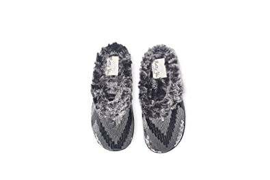 c80791c55b8 Robyn by Pretty You London - Faux Fur Lined Ladies Mule Slippers with  Sparkling Design (