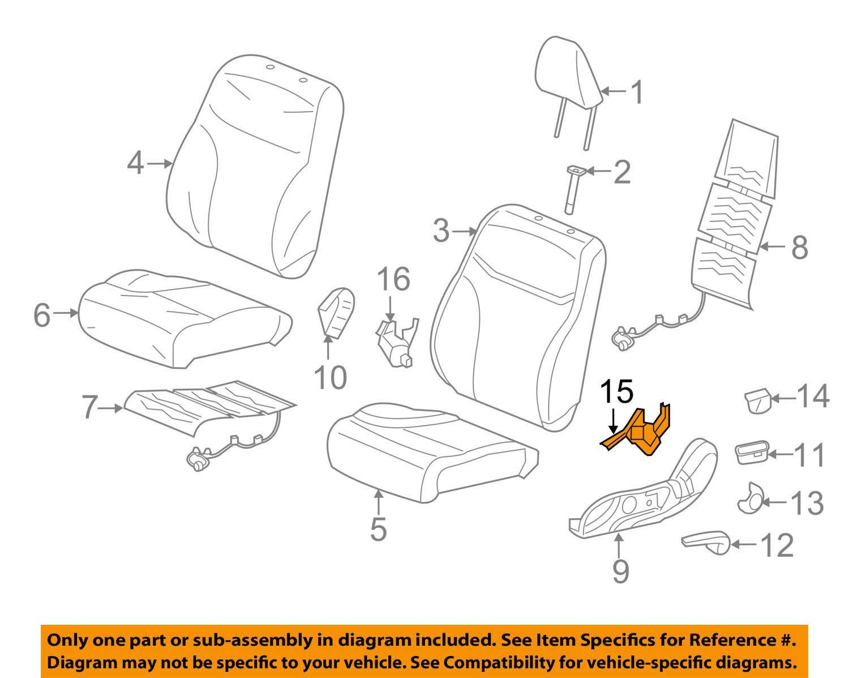 Honda Genuine 81637-TA0-A21ZE Seat Reclining Cover