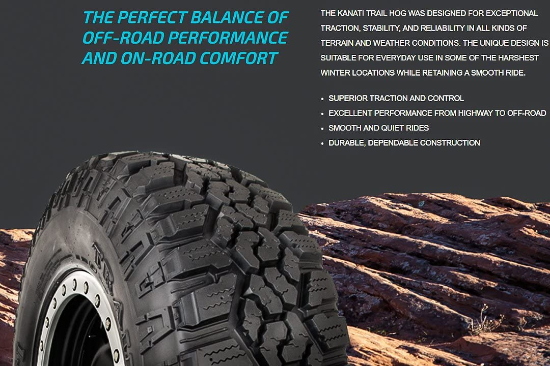 LT285//60R20 125//122Q E 10 Ply Kanati Trail Hog A//T-4 All-Terrain Tire