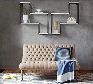 Antique Style Industrial Wrought Iron Racks, Solid Wood Bookshelves, Decorative Background Walls, Storage Holders/Racks, BOSS LV, c