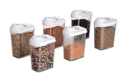 Buy Slings Cereal Dispenser Easy Flow Storage Jar 750ml 6 Pcs Set ...