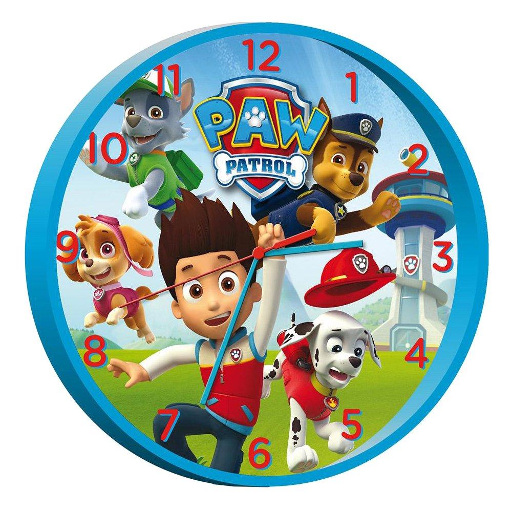 Kids Licensing Horloge Murale 24 Cm Paw Patrol