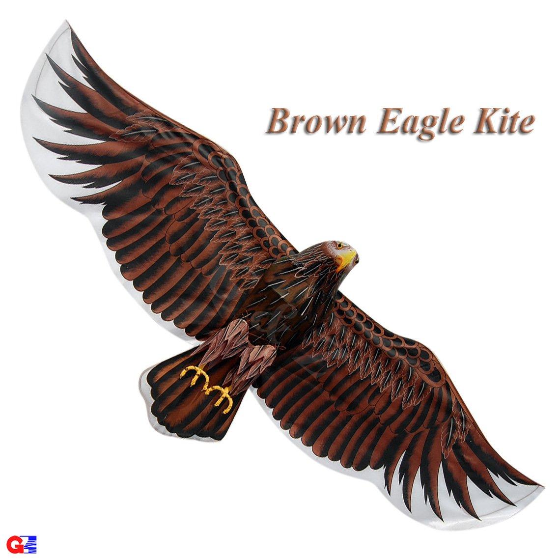 3d Extra LargeダークブラウンEagle Kite – ChineseハンドメイドシルクKites B00B2YW5PQ
