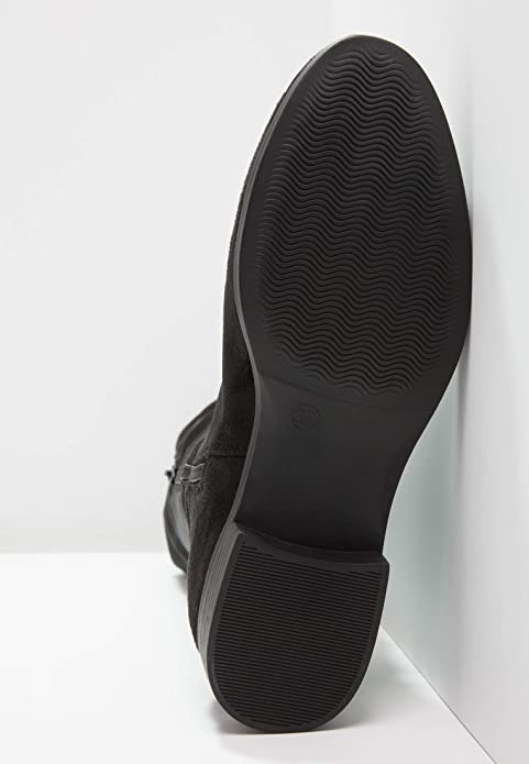 8803ea9f3de464 Anna Field Damen Overknee Stiefel mit Metall Details - Langschaftstiefel mit  Flachem Absatz - Elegante Overkneestiefel aus Hochwertigem Lederimitat  ...