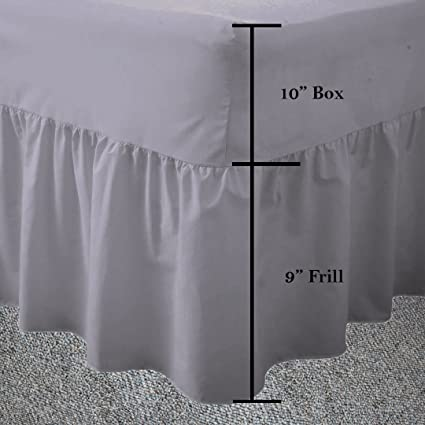 68 pick 50//50 polycotton over the mattress Kingsize 5/' bed fitted valance