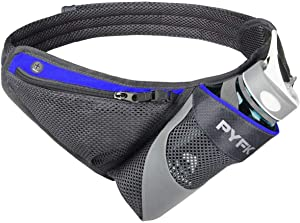 PYFK Running Belt Hydration Waist Pack with Water Bottle Holder for Men Women Waist Pouch Fanny Bag Reflective