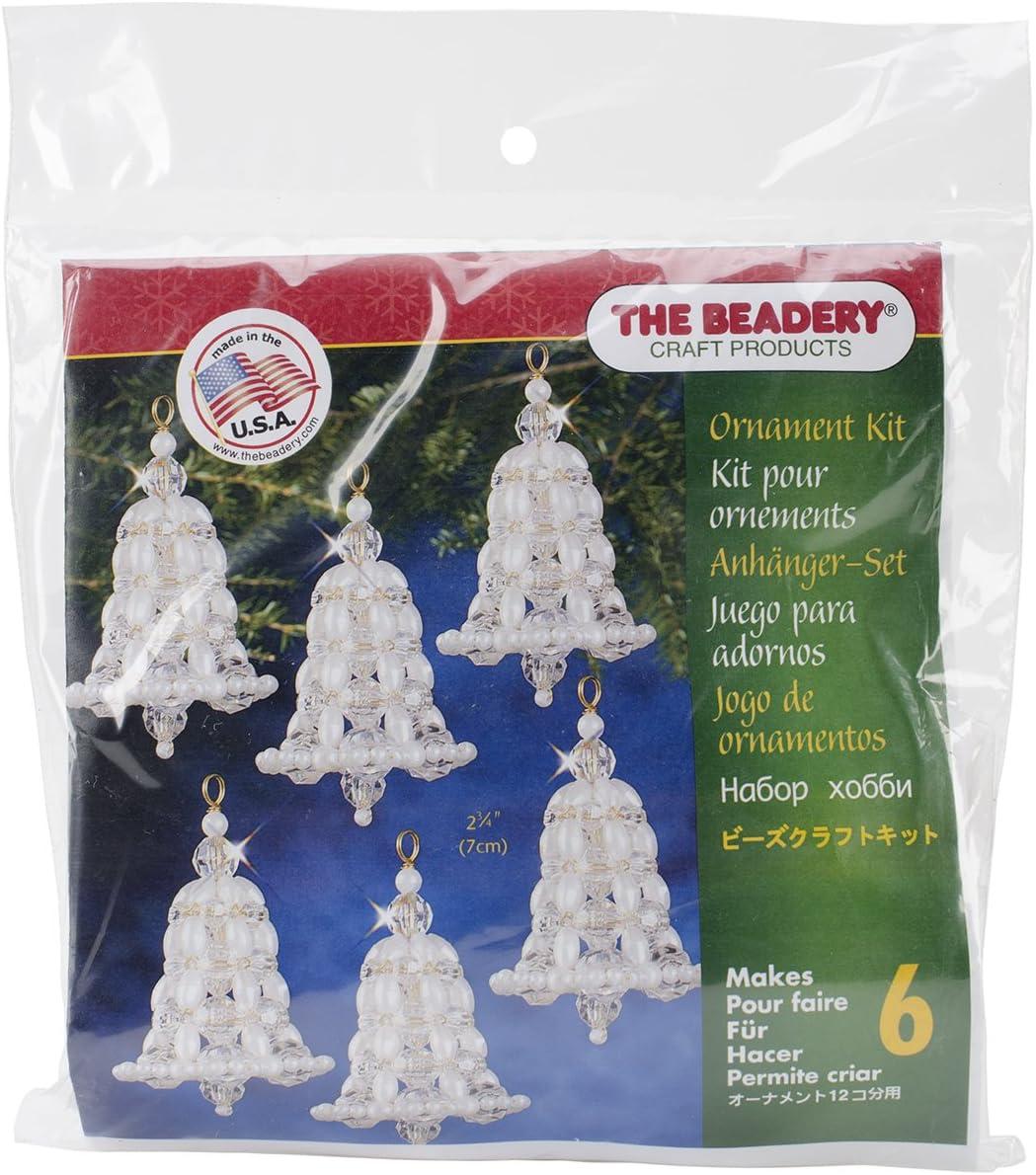 Holiday Beaded Ornament Kit IRIDESCENT BUBBLES Christmas Ornaments Makes 8 NEW!