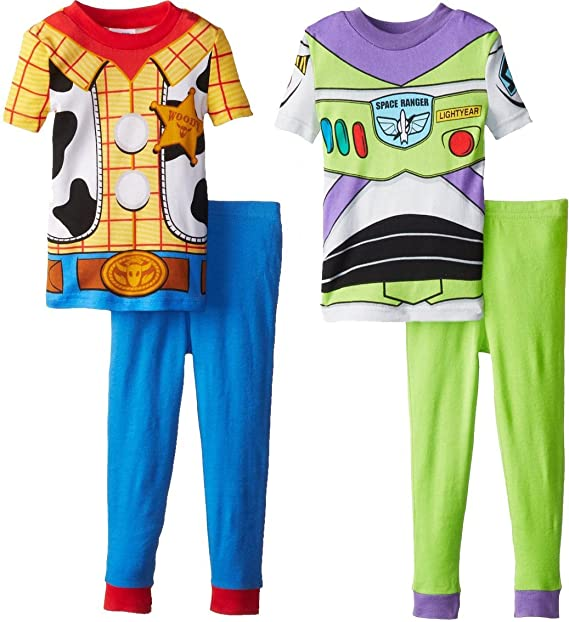 Toy Story Woody Buzz Juego de 4 PC algodón pijama para niños