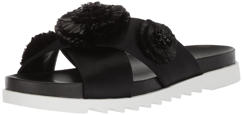 Nine West Women's Feeltheluv Satin Slide Sandal B074X25V1N 5 B(M) US|Black Satin