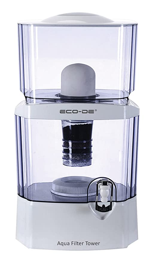 ECO-DE ECO-3150 Aqua Filter Tower PURIFICADOR DE Agua, Transparente