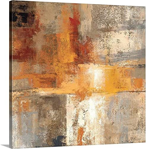 Silver and Amber Crop Canvas Wall Art Print