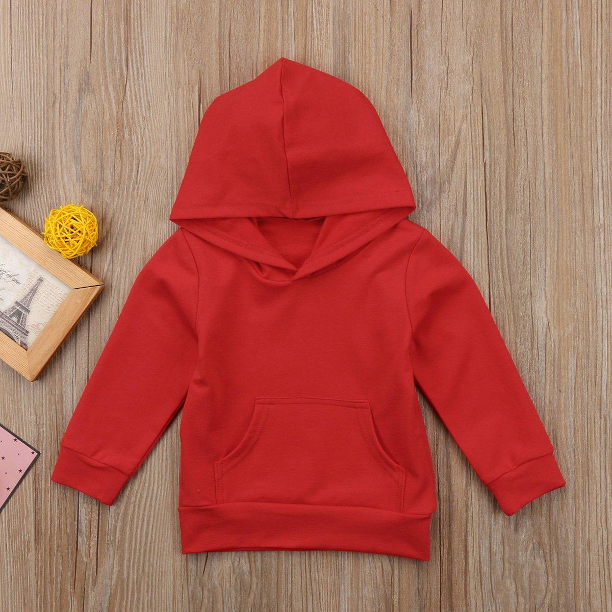 Urkutoba Baby Boys Girls Winter Hoodie Tops Words Print Hooded Sweatshirt with Pocket Outdoor Hoodie Outfit