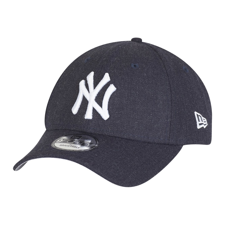 New Era Enfant Junior 9Forty Visiere Incurve MLB Heather Team Essential New  York Yankees Gris Casquette de baseballs Taille Jeunesse Casquette Ajustée  ... d5b18eaae232