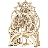 ROKR 3D Wooden Mechanical Pendulum Clock Puzzle,Mechanical Gears Toy Building Set,Family Wooden Craft KIT Supplies-Best Birth