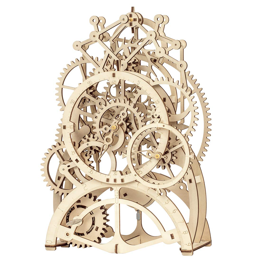 ROKR 3D Wooden Mechanical Pendulum Clock Puzzle,Mechanical Gears Toy Building Set,Family Wooden Craft KIT Supplies-Best Birthday Gifts for Kids Adults to Build by ROKR