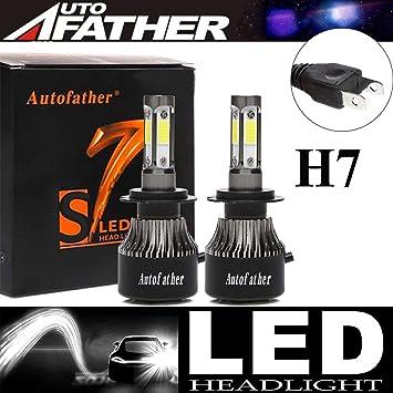 Mini H7 H7 Combo LED Headlight Kit Bulbs High Low Beam 240W 52000LM 6000K Kit