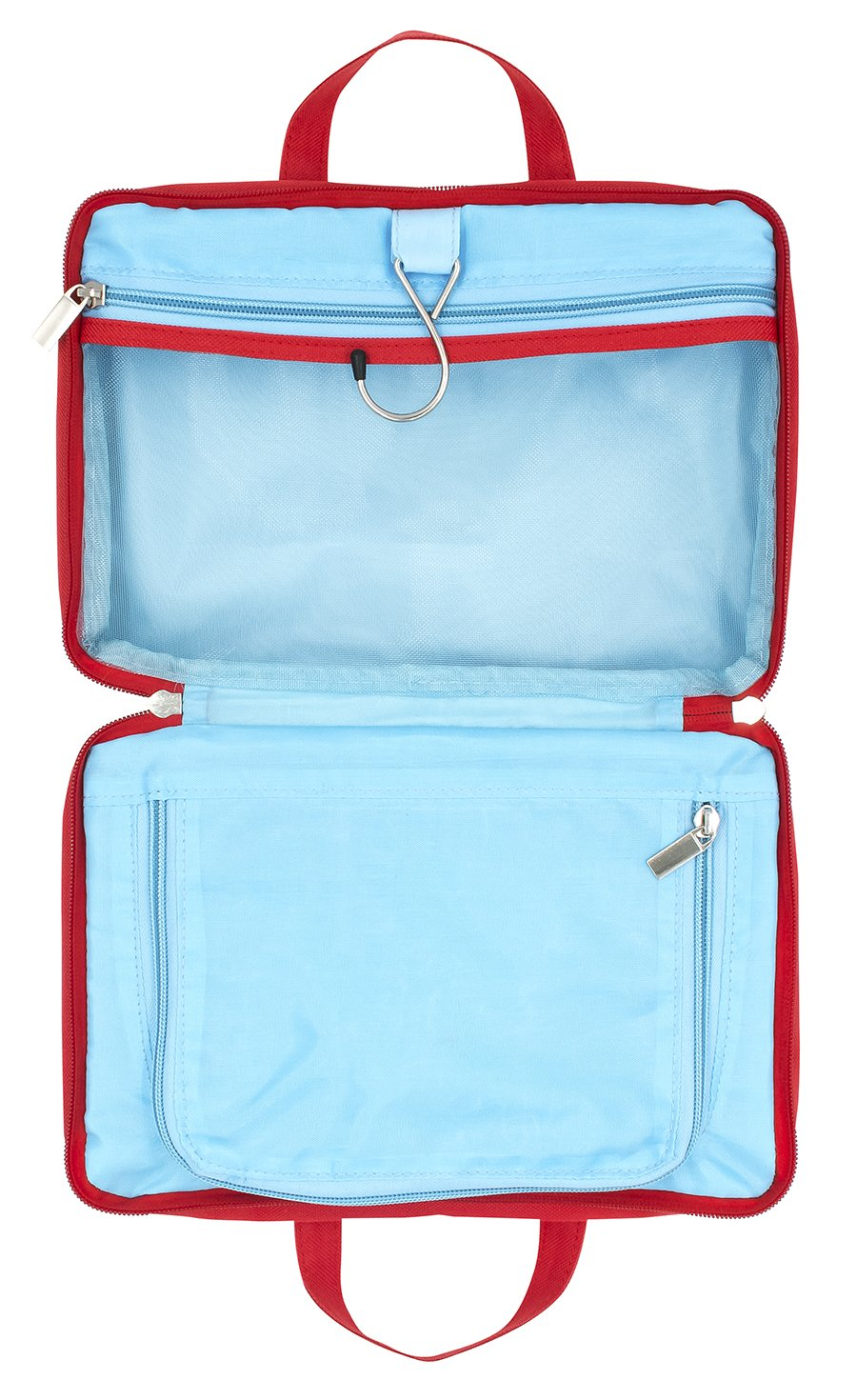 Girl Almighty Red Blue 7.5 x 11 Inch Polyester Makeup Bag with Handles