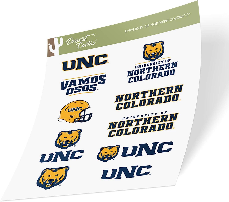University of Northern Colorado UNC Bears NCAA Sticker Vinyl Decal Laptop Water Bottle Car Scrapbook (Type 2 Sheet)