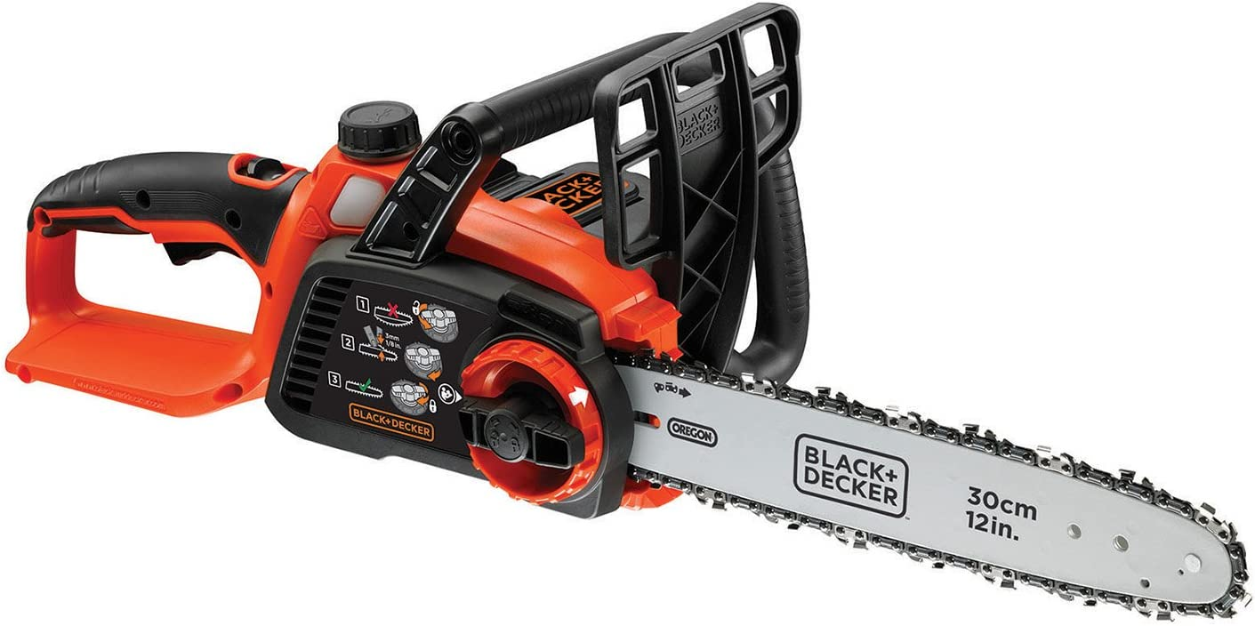 Black+Decker GKC3630LB Xj - Motosierra inalámbrica 36 V, 30 cm (batería no incluida)