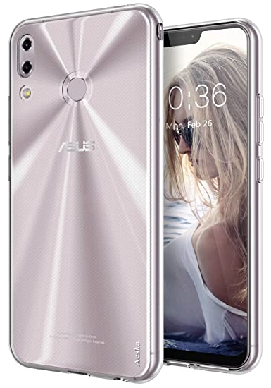 finest selection ef69b f724a ZenFone 5 Case, Aeska Ultra [Slim Thin] Flexible TPU Gel Rubber Soft Skin  Silicone Protective Case Cover for Asus ZenFone 5 ZE620KL (Clear)