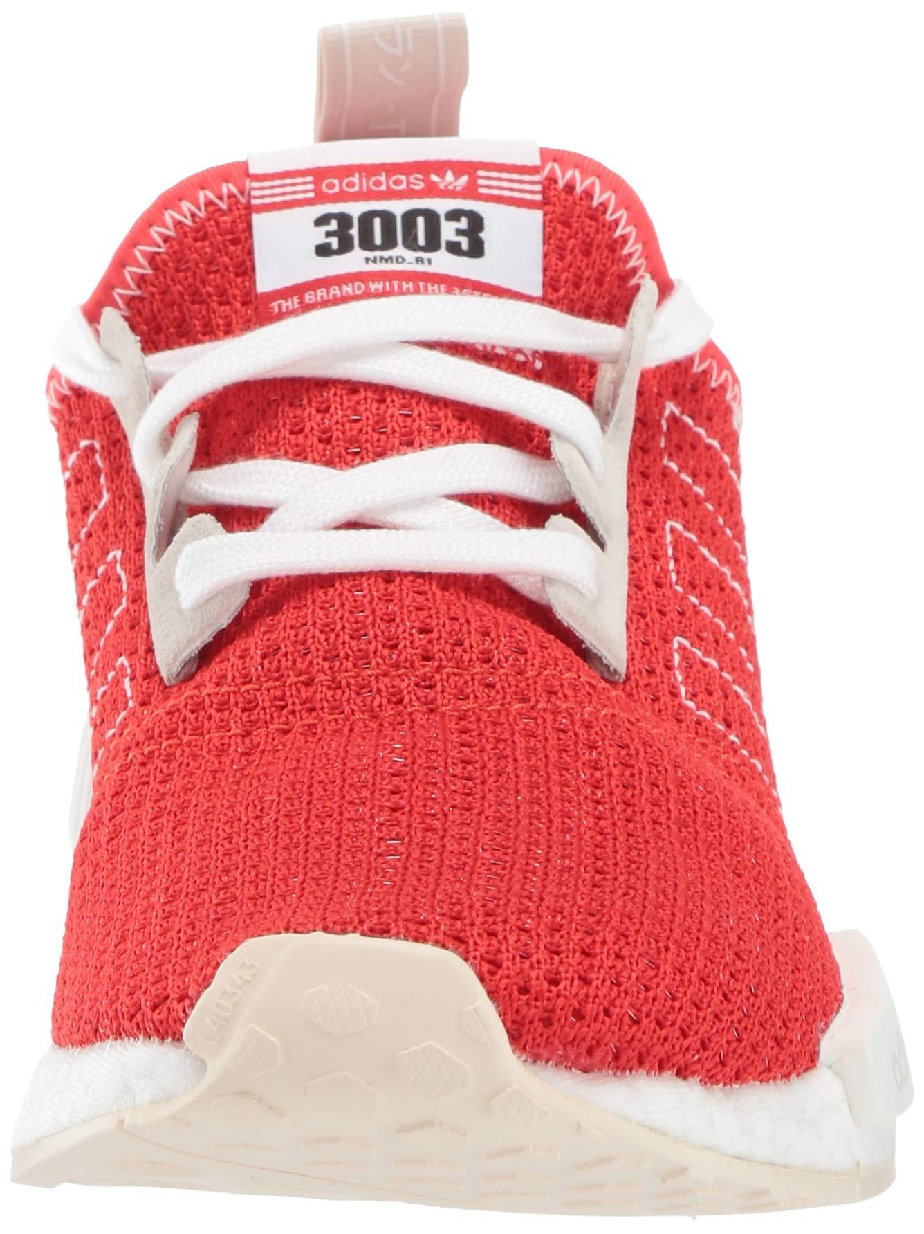 adidas Originals Men's NMD_R1 Running Shoe, Active red/Ecru Tint, 4 M US by adidas Originals (Image #4)