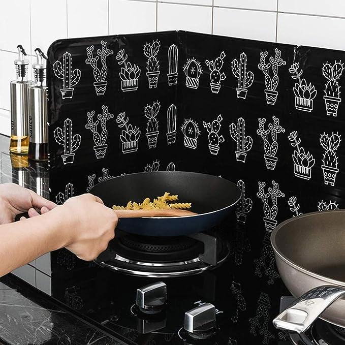 Protector antisalpicaduras plegable para horno, sartén, aceite ...