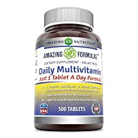 Amazing Formulas Daily Multivitamin Tablets(Non-GMO,Gluten Free)Just 1 Tablets A...